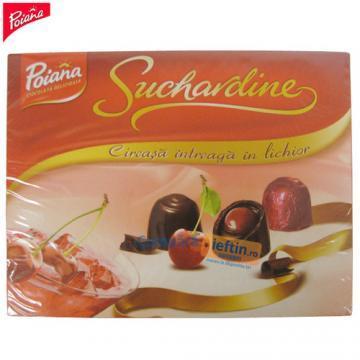 Praline de ciocolata cu cirese in lichior Poiana Suchardine 161 gr - Pret | Preturi Praline de ciocolata cu cirese in lichior Poiana Suchardine 161 gr