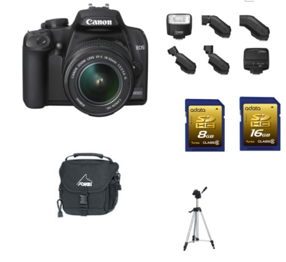 Aparat foto canon eos 1000d+accesorii - Pret | Preturi Aparat foto canon eos 1000d+accesorii
