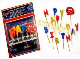 Lumanari litere HAPPY BIRTHDAY Cars - Pret   Preturi Lumanari litere HAPPY BIRTHDAY Cars