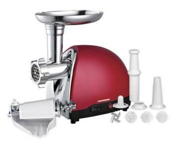 Masina de tocat carne Heinner MG1200TA-Red, 1200W, accesorii rosii - Pret | Preturi Masina de tocat carne Heinner MG1200TA-Red, 1200W, accesorii rosii