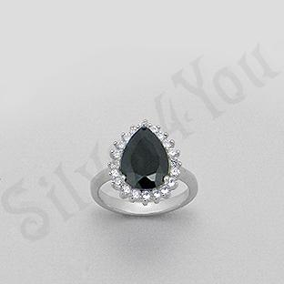 Silver4You.ro - Inel argint lacrima zircon negru aspect aur alb - Pret | Preturi Silver4You.ro - Inel argint lacrima zircon negru aspect aur alb