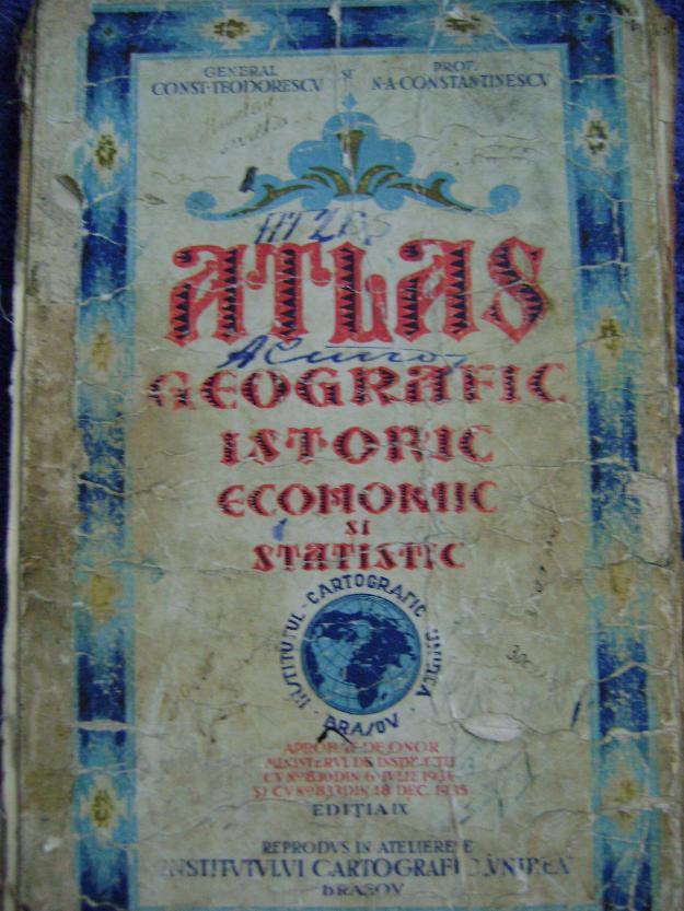 Atlas geografic, istoric,economic si statistic,1935-Raritate! - Pret   Preturi Atlas geografic, istoric,economic si statistic,1935-Raritate!