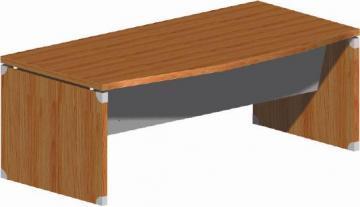 Birou arcuit X-Time Work Stop, 180 cm, pazie metalica, nuc - Pret | Preturi Birou arcuit X-Time Work Stop, 180 cm, pazie metalica, nuc