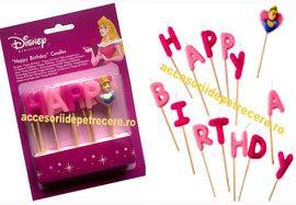 Lumanari litere HAPPY BIRTHDAY Princess - Pret   Preturi Lumanari litere HAPPY BIRTHDAY Princess