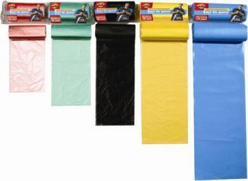 Saci menajeri Eko, bleu, 70 x 110 cm, 10 bucati/rola, 120 l, albastru - Pret | Preturi Saci menajeri Eko, bleu, 70 x 110 cm, 10 bucati/rola, 120 l, albastru