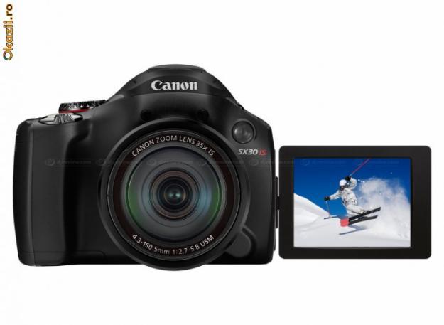 CANON PowerShot SX30 IS = Nou La Cutie 300 euro - Pret | Preturi CANON PowerShot SX30 IS = Nou La Cutie 300 euro