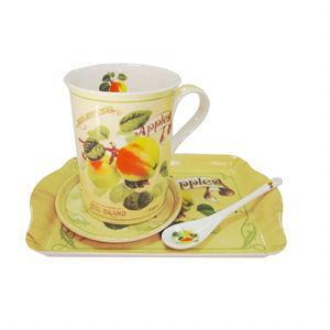 Set servire ceai / cafea 4 piese - Pret | Preturi Set servire ceai / cafea 4 piese