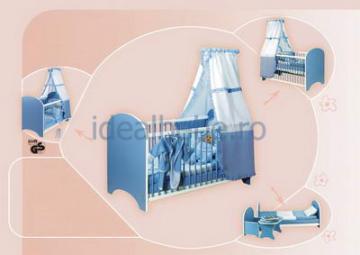 Bretco Design - Patut MARGOT 140 x70 blue - Pret | Preturi Bretco Design - Patut MARGOT 140 x70 blue