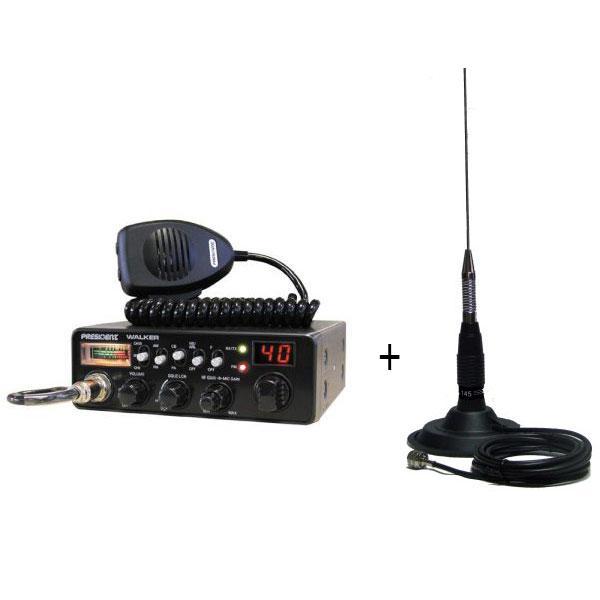 Statie radio President Walker + Antena PNI-ML145 cu magnet - Pret   Preturi Statie radio President Walker + Antena PNI-ML145 cu magnet