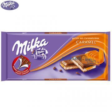 Ciocolata cu lapte Milka Caramel 100 gr - Pret | Preturi Ciocolata cu lapte Milka Caramel 100 gr
