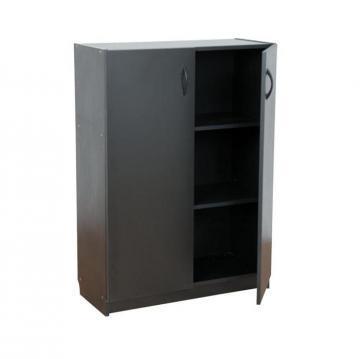Dulap mediu Eco, cu 2 rafturi, 80 x 33 x 110 cm, negru - Pret | Preturi Dulap mediu Eco, cu 2 rafturi, 80 x 33 x 110 cm, negru