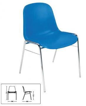Scaun Beta, plastic, albastru - Pret | Preturi Scaun Beta, plastic, albastru