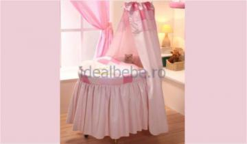 Cosulet cu roti mari HAPPY BUNNY roz - Pret | Preturi Cosulet cu roti mari HAPPY BUNNY roz