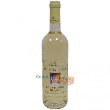 Vin demisec Sauvignon Blanc Rovinex Romanian Classic 0.75 L - Pret | Preturi Vin demisec Sauvignon Blanc Rovinex Romanian Classic 0.75 L