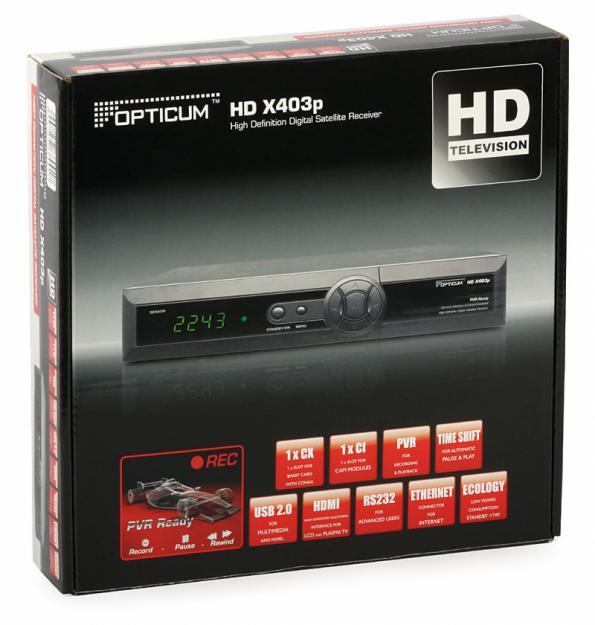 receptor satelit ful hd  opticum ts 9600 hd