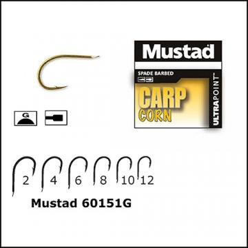 Carlig Mustad Carp Corn - nr.6, auriu - Pret | Preturi Carlig Mustad Carp Corn - nr.6, auriu