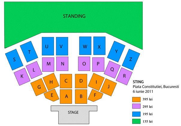 4 X bilete concertul Sting (6.06.2011) - Pret | Preturi 4 X bilete concertul Sting (6.06.2011)