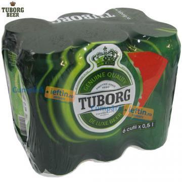 Bere Tuborg 6 doze x 0.5 L - Pret | Preturi Bere Tuborg 6 doze x 0.5 L