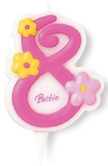 Lumanare tort Barbie cifra 8 - Pret | Preturi Lumanare tort Barbie cifra 8