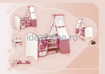 Bretco Design - Patut MARGOT 140 x 70 roz - Pret | Preturi Bretco Design - Patut MARGOT 140 x 70 roz