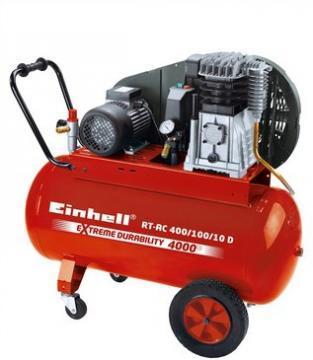 Compresoare - Einhell RT-AC 400-100-10 D 10 bari 2850 rpm 400 lpmin - Pret | Preturi Compresoare - Einhell RT-AC 400-100-10 D 10 bari 2850 rpm 400 lpmin